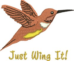 Just Wing It embroidery design
