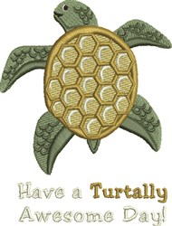 Turtally Awesome embroidery design