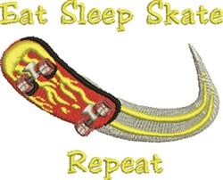Eat Sleep Skate embroidery design