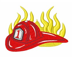 Firefighter Hat embroidery design