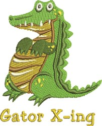 Gator X-ing embroidery design