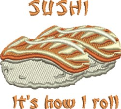 Sushi Roll embroidery design