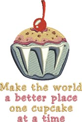 One Cupcake embroidery design