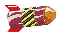 Rocket embroidery design