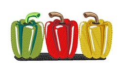 Bell Peppers embroidery design