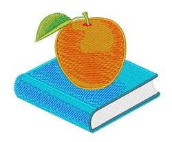 Book & Apple embroidery design