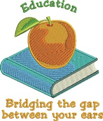 Education embroidery design