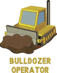 Bulldozer Operator embroidery design