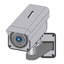 Security Camera embroidery design