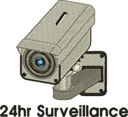 24 Hr Surveillance embroidery design