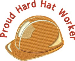 Hard Hat Worker embroidery design