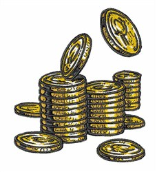 Gold Coins embroidery design