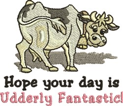Udderly Fantastic embroidery design