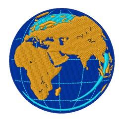 World Globe embroidery design