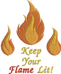 Keep Flame Lit embroidery design