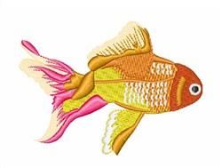 Orange Fish embroidery design