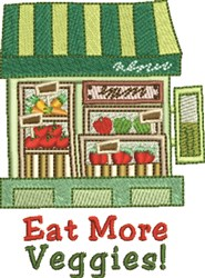 Eat More Veggies embroidery design
