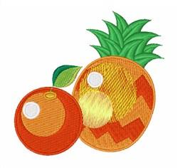 Orange & Pineapple embroidery design