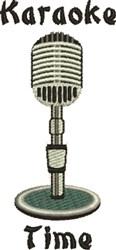 Karaoke Time embroidery design