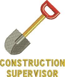 Construction Supervisor embroidery design