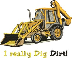 Dig Dirt embroidery design