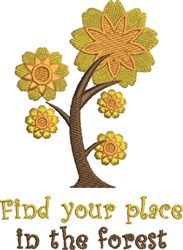 Find Your Place embroidery design