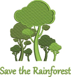 Save Rainforest embroidery design