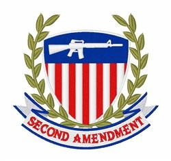 2nd Amendment Shield embroidery design