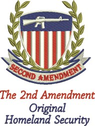 Second Amendment embroidery design
