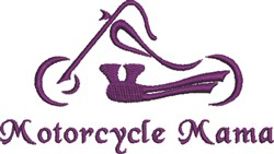 Abstract Motorcycle Mama embroidery design