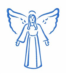 Religious Angel embroidery design