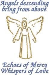 Angels Descending embroidery design
