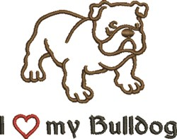 My Bulldog embroidery design
