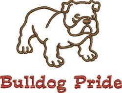 Bulldog Pride embroidery design