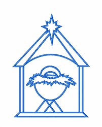 Christmas Manger embroidery design