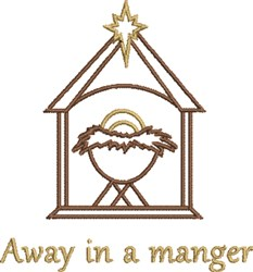 Away in a Manger embroidery design