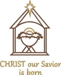 Christ Our Savior embroidery design