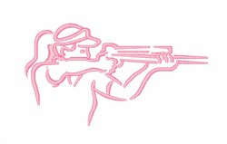 Woman Marksman embroidery design