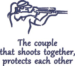 Shoots Together embroidery design
