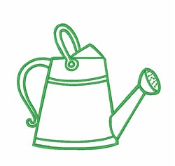 Gardening Watering Can embroidery design