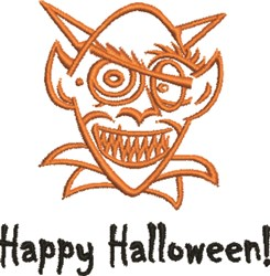 Goblin Halloween embroidery design