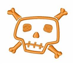 Halloween Bone Head embroidery design