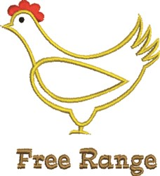 Free Range embroidery design