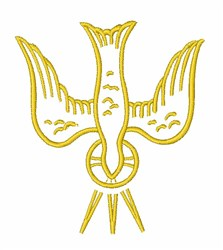 Holy Spirit Dove embroidery design