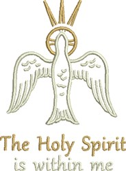The Holy Spirit embroidery design