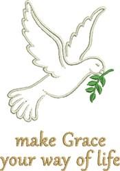Grace Dove embroidery design