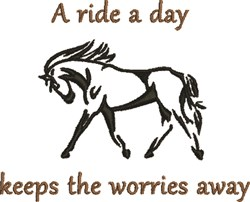 A Ride A Day embroidery design