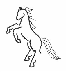 Horse Stallion embroidery design