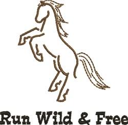Run Wild embroidery design