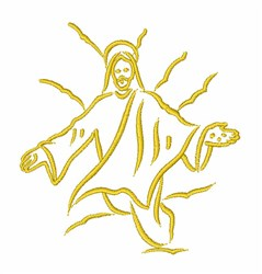 Jesus Christ Outline embroidery design